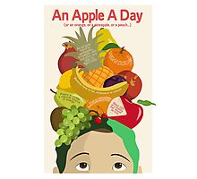 An Apple A Day- Health Poster Photographic Print