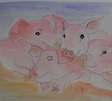 '4 LITTLE PIGS' by jansimpressions