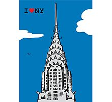 I Love the Chrysler Building Photographic Print
