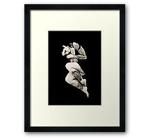 Tattoo Girl in Bed Framed Print