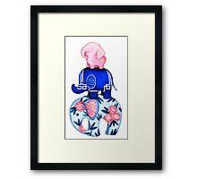 Fabric Elephant Stack Framed Print
