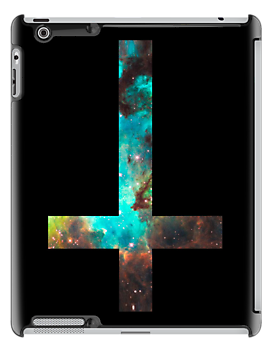 Green Galaxy Inverted Cross by rapplatt