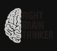 Right Brain Thinker T-Shirt Kids Clothes
