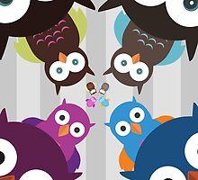 Owl Crowd by Adamzworld