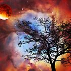 Night Sky Landscape Art By Sharon Cummings by Sharon Cummings