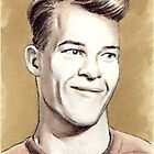 Gordie Howe miniature by wu-wei