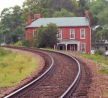 Curved Train Tracks, Jonesborough, Tennessee by Frank Romeo