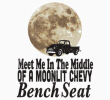 Meet Me In The Middle Of A Moonlit Chevy Bench Seat by KatBDesigns