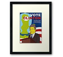 Vote Clinton Framed Print