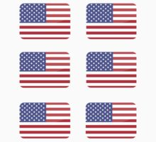 Flags of the World - United States of America x6 by CongressTart