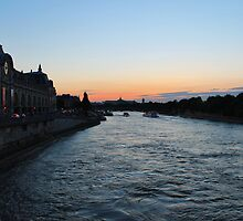 Dusk over the Seine by dennisgreenhill