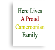 Here Lives A Proud Cameroonian Family  Metal Print
