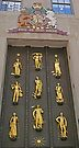 Door with the golden figures, New York by Margaret  Hyde