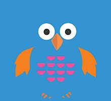 Blue & Orange Owl by Adamzworld