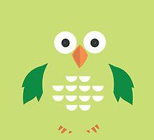 Green & Green Owl by Adamzworld