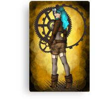 Steampunk Girl Pinup Canvas Print