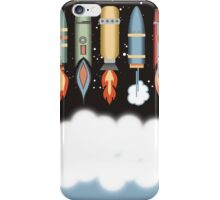 Colorful outer space rockets flaming jet pack clouds iPhone Case/Skin