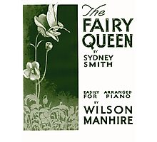 THE FAIRY QUEEN (vintage illustration) Photographic Print