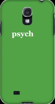 Psych Logo Iphone Cover by miztayk