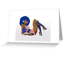Funky 4th Greeting Card