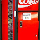 Coca-Cola Coke Cooler Vending Machine iphone Case by miztayk