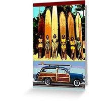 Cool Babes & Hot Rod Greeting Card