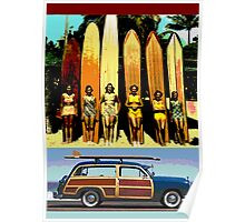 Cool Babes & Hot Rod Poster