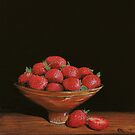 Still Life with Strawberries by Paul Fearn