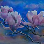 Watercolour: Magnolia Trio by Marion Chapman