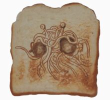 Blessed Noodly Appendages on Toast by Brinjen