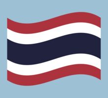 Thai Flag Wave by iloveisaan