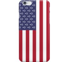 Anchor American flag iPhone Case/Skin