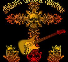 Skull cross guitar by kuuma