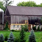 Beautiful barn and silo by sevenfeathers