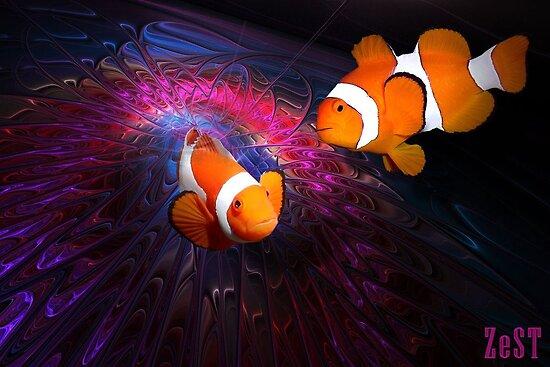 art-ZeST › Portfolio › Clownfishes in fractal circus.