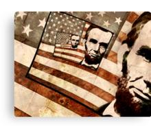 President Abraham Lincoln Patriotic Flag Canvas Print