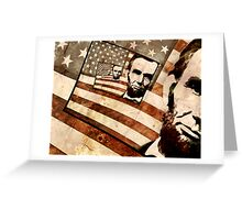 President Abraham Lincoln Patriotic Flag Greeting Card