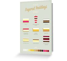 Layered Puddings Greeting Card