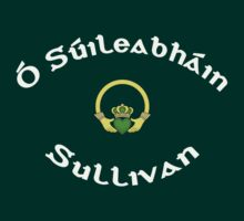 Sullivan Surname 1 - Dark Shirts with Claddagh by Mike Collins