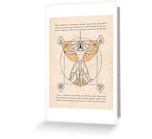 Vitruvian Aang Greeting Card