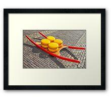 Cheese market Framed Print