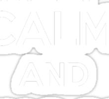 Keep Calm and Shoot Hoops Sticker