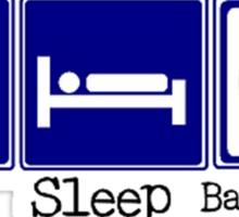 Eat, Sleep, Basketball Sticker