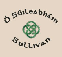 Sullivan Surname 3 - Light Shirts with Celtic Knot by Mike Collins
