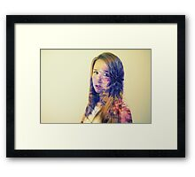 purple layer Framed Print
