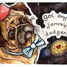 Pug in space by Jazmine Phillips