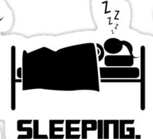 Eating. Sleeping.Cooking Female T-Shirt Sticker
