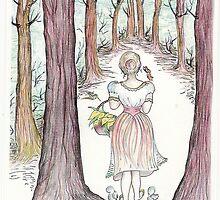 Woman In The Woods by merrilymccarthy