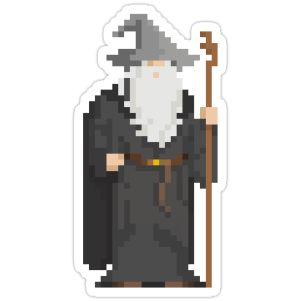 Gandalf Pixel Hero by Demonigote