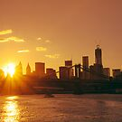 Sunset over New York City by Vivienne Gucwa